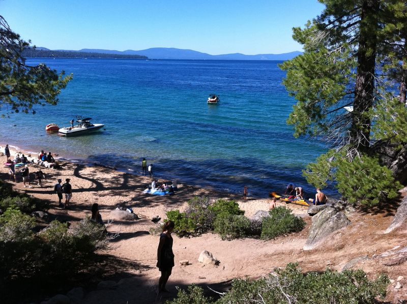 Tahoe hike beach